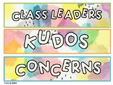 Class Meeting Labels