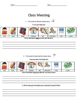 Class Meeting Notes