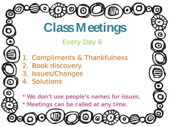 Editable Class Meeting Outline