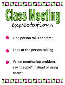 Class Meeting Rules