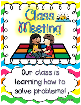 Class Meeting Scenario Tickets {Helping Kids Solve Their Own Problems!}