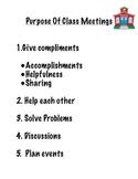 Class Meetings Poster