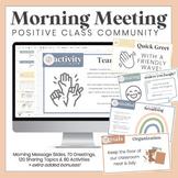 Class Meetings  l  Positive Classroom Community  l  Distan