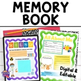 Class Memory Book End of the Year 3rd, 4th, 5th, 6th Grade