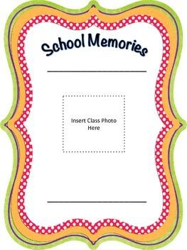 Class Memory Book Keepsake for teachers