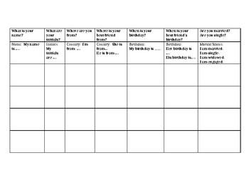 Class Mingle - Get Level 1 students talking