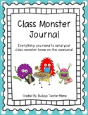 Class Monster Journal- A Class Pet Writing Journal