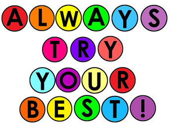 Class Motto: ALWAYS TRY YOUR BEST! display #ausbts18 ...