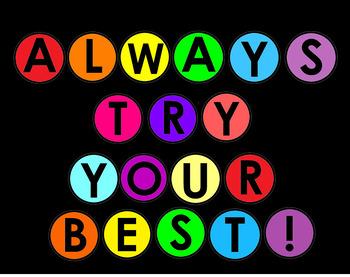 Class Motto: ALWAYS TRY YOUR BEST! (Freebie) #aussiebts by ...