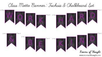 Class Motto Banner Set