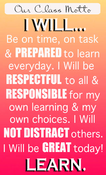 Class Motto / Class Rules