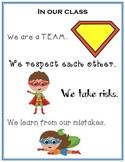 Class Motto - Superhero Theme