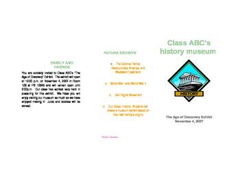 Class Museum Brochure