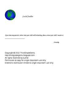 Class News Communication Letter to Parents