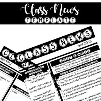 Class News Template