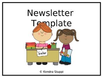 Class News - Weekly Newsletter Template
