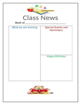 Class Newsletter
