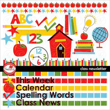 Class Newsletter Clipart by Poppydreamz