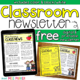 Newsletter Template Editable Free (Digital & Printable)