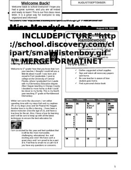 Class Newsletter! Editable to fit your needs:)