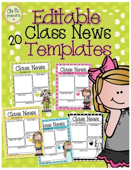 """Class Newsletter Template  """"EDITABLE"""""""