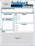 Class Newsletter Template - Editable