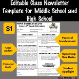 Class Newsletter Template for Middle School or High School
