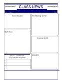 Class Newsletter Template or Student Newsletter Template