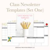 Class Newsletter Templates (Set One)