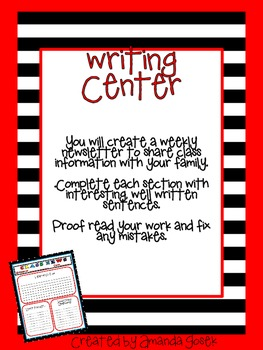 Class Newsletter Writing Center