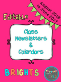Class Newsletter and Calendar Editable 2016-2017