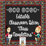 Newsletter Editable Templates Back To School Resources