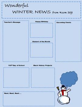 Class Newsletters for the School Year
