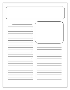 class newspaper template by read all about it teachers pay teachers. Black Bedroom Furniture Sets. Home Design Ideas