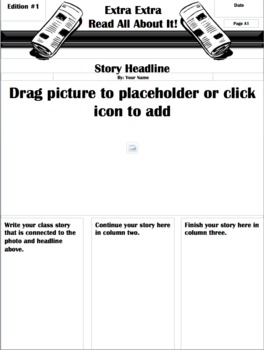 class newspaper template free by schoolboxtreasures tpt