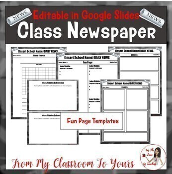 Class Newspaper in GOOGLE SLIDES *Editable