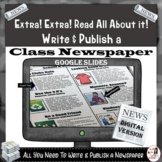 Class Newspaper in GOOGLE SLIDES *Editable