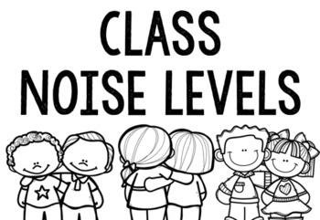 Class Noise Level Chart Black & White Version