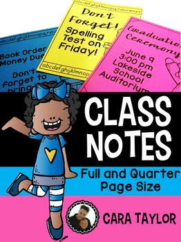 Class Notes ~ Editable!