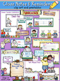 Class Notes & Reminders Clip Art & Printables