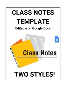 Class Notes For Students Template Editable In Google Docs By ROOMBOP - Google docs notes template
