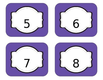Number Labels- - **EDITABLE**- (Thumbnail is distorted, look at preview)
