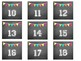 Class Number Set (Chalkboard themed)--2 sizes