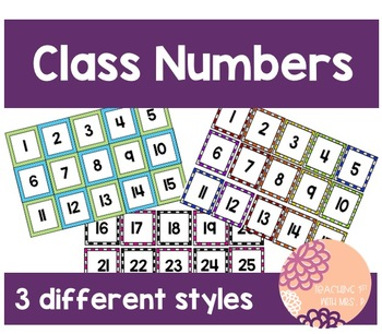 Class Numbers 1-30