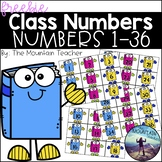 Class Numbers 1-36