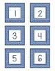 Class Numbers - Blue & White Chevron (1-36)