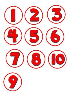 Class Numbers (Bright Color Theme) 1-36