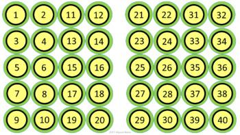 Class Numbers - Lemon & Sage