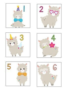 Class Numbers - Llama Themed (1-36)