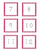 Class Numbers - Red Polka Dots (1-36)